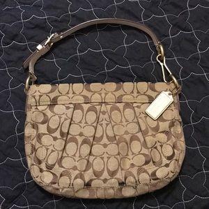 Brown/Tan Coach purse